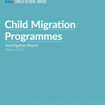 Child Migrations Programme Investigation Report - Report cover