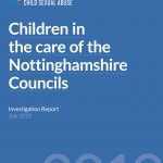 Children in the care of Nottinghamshire Councils - 31 July 2019 report cover